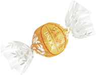Lindt Truffle - Lindt Lindor Truffles White Chocolate (yellow wrap), 12 Box Case