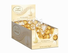 Lindt Truffle - Lindt Lindor Truffles White Chocolate (yellow wrap), 60ct. Box
