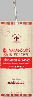 "Madecasse Chocolate ""Cinnamon & Sakay Pepper"", 63% cocoa, 75g/2.64oz."