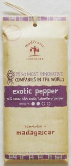 """Madecasse Chocolate """"Exotic Pepper"""", 63% cocoa, 75g/2.64oz. (6 Pack)"""
