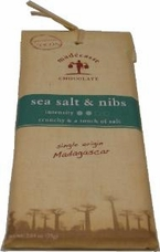 "Madecasse Chocolate - Madagascar Chocolate, ""Sea Salt & Nibs"", 75g/2.64oz (6 Pack)."