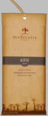 Madecasse Chocolate - Madagascar Dark Chocolate, 63% Cocoa, 75g/2.64oz. (6 Pack)