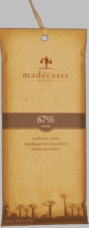 Madecasse Chocolate - Madagascar Dark Chocolate, 67% Cocoa, 75g/2.64oz. (10 Pack)