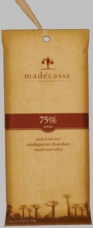 Madecasse Chocolate - Madagascar Dark Chocolate, 75% Cocoa, 75g/2.64oz (Single).