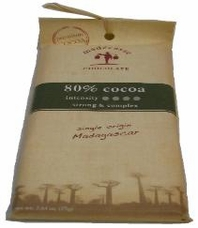 Madecasse Chocolate - Madagascar Dark Chocolate, 80% Cocoa, 75g/2.64oz (Single).