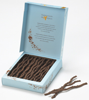 Mademoiselle De Margaux - Chocolate Twigs, Milk Chocolate with Cappuccino Flavor, 125g/4.4oz (Single).