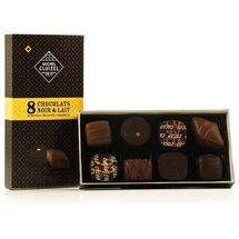 "Michel Cluizel - ""8 Piece Ganache"" Dark & Milk Single Origin, 85g/2.9oz."