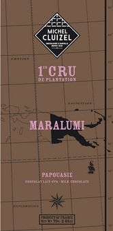 "Michel Cluizel Chocolate - 47% 1st Cru de Plantation ""Maralumi"" MILK Chocolate, Single Estate, 70g/2.46oz.  (20 Pack)"