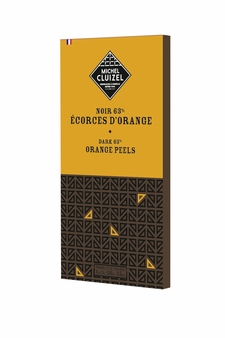 Michel Cluizel French Chocolate - 60% Cocoa Dark Chocolate with Orange Peel, 100g/3.5oz. (20 Pack)