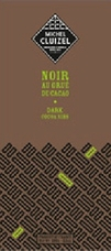 """Michel Cluizel French Chocolate - 63% Cocoa Dark Chocolate with """"Cocoa Nibs"""", 100g/3.5oz (15 Pack)."""