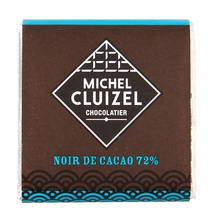 "Michel Cluizel French Chocolate - 72% Cocoa ""Noir De Cacao"" Dark Chocolate, 5gr. ea.(50-Piece Bag)."