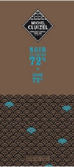 """Michel Cluizel French Chocolate - 72% Cocoa """"Noir De Cacao"""" Dark Chocolate, 70g/2.46oz. (5 Pack)"""