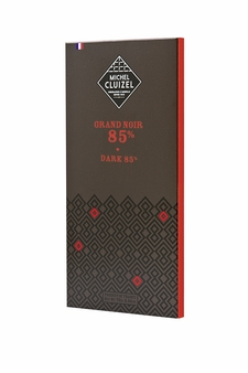 "Michel Cluizel French Chocolate - 85% Cocoa ""Grand Noir"" Dark Chocolate, 70g/2.46oz. (5 Pack)"