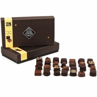 "Michel Cluizel - ""28 Chocolates"" Dark and Milk Gift Box, 305g/10.75oz. (Single)."