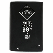 "Michel Cluizel French Chocolate - ""Chocolat Noir Infini"" 99% Cocoa Dark Chocolate, 30g/1.05oz.  (20 Pack)"