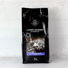 "Michel Cluizel French Chocolate - Couverture Chips 1st Cru Hacienda ""Mangaro / Madagascar"", Milk Chocolate 50% Cocoa, 3kg/6.6Lb. (Single)."