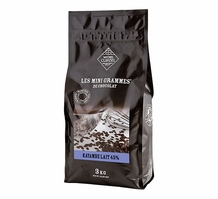 "Michel Cluizel French Chocolate - Couverture Pastilles 45% Cocoa ""Kayambe Lait""  3kg/6.6Lb. (Single)."