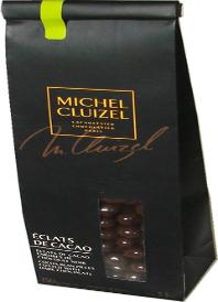 """Michel Cluizel French Chocolate - """"Eclats De Cacao"""" Cocoa Bean Pieces coated with Dark Chocolate, 150g/5.29oz. (Single)."""
