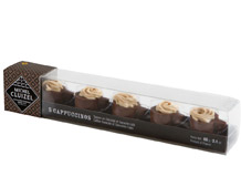 "Michel Cluizel French Chocolate - ""Les Capuccinos"" Coffee Ganache / Chocolate Cups, 5 Pieces, 60g/2.11oz. (Single)."