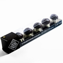 "Michel Cluizel French Chocolate - ""Les Champignons"" Chocolate & Caramel Mushrooms, 5 Piece, 90g/3.18oz."