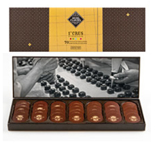 "Michel Cluizel French Chocolate - Les Nuancier ""The Pure Origins of the World"", 70 Pallets, 240g/8.46oz."
