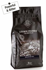 Michel Cluizel French Chocolate - Noir Infini Couverture Pastilles Bitter chocolate Chips, 99% Cocoa, 3Kg / 6.6 Lb (Single).