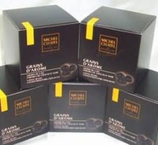 "Michel Cluizel French Chocolate - The ""Grains d'Arome"" Coffee Beans coated with Dark Chocolate, 150g/5.3oz."