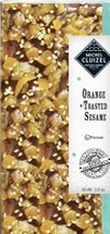 "Michel Cluizel - ""Orange with Toasted Sesame"" Bar, 55% Cocoa, 2.70oz / 76g."