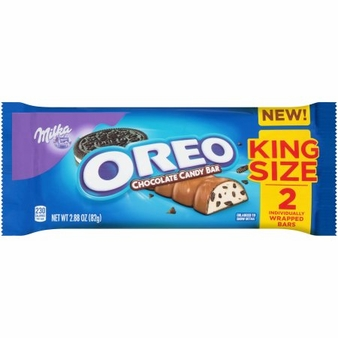 Milka Oreo Chocolate Candy Bar 2.88oz/82g (Pack of 12)