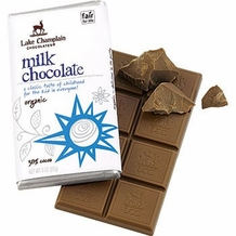 Lake Champlain Organic Milk Chocolate Bar 3oz (Pack of 6)