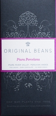 Original Beans Piura Porcelana - Peru - 75% Dark Chocolate - 2.46 oz, (6 Pack)