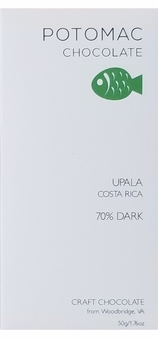 Potomac Chocolate Upala 70% Dark Chocolate, 57g / 2oz (15 Pack)