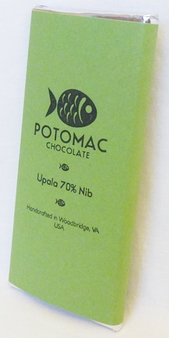 Potomac Chocolate Upala 70% Nib Dark Chocolate, 57g / 2oz (15 Pack)