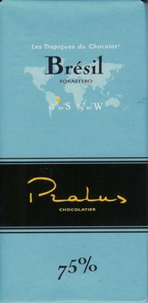 "Pralus French Chocolate - ""Bresil - Pure Origin"" Dark Chocolate, 75% Cocoa, 100g/3.5oz. (Single)"