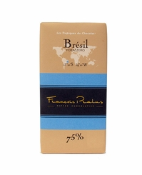 "Pralus French Chocolate - ""Br�sil - Pure Origin"" Dark Chocolate, 75% Cocoa, 100g/3.5oz. (Single)"