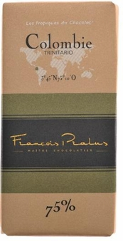 "Pralus French Chocolate - ""Colombie / Columbia - Pure Origin"" Dark Chocolate, 75% Cocoa, 100g/3.5oz. (5 Pack)"