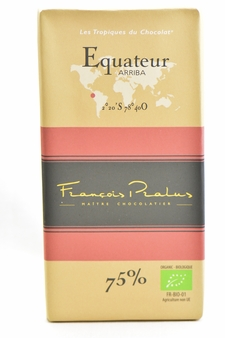 "Pralus French Chocolate - ""Equateur - Pure Origin"" Dark Chocolate, 75% Cocoa, 100g/3.5oz. (15 Pack)"