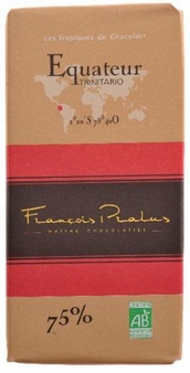 "Pralus French Chocolate - ""Equateur - Pure Origin"" Dark Chocolate, 75% Cocoa, 100g/3.5oz. (5 Pack)"