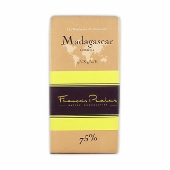 "Pralus French Chocolate - ""Madagascar - Pure Origin"" Dark Chocolate, 75% Cocoa, 100g/3.5oz. (15 Pack)"