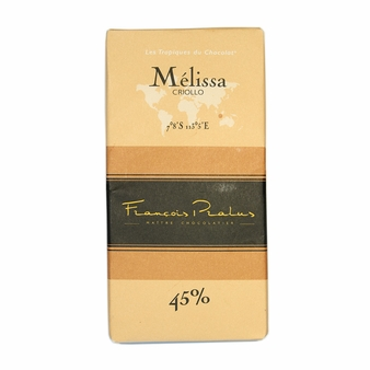 "Pralus French Chocolate - ""Melissa - Pure Origin"" Milk Chocolate, 45% Cocoa, 100g/3.5oz. (15 Pack)"