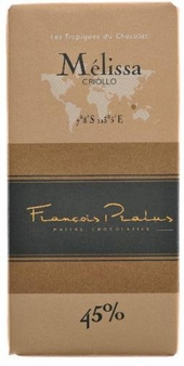 "Pralus French Chocolate - ""Melissa - Pure Origin"" Milk Chocolate, 45% Cocoa, 100g/3.5oz. (5 Pack)"