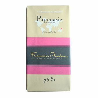 "Pralus French Chocolate - ""Papouasie - Pure Origin"" Dark Chocolate, 75% Cocoa, 100g/3.5oz (15 Pack)."