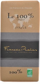 Pralus French Chocolate - Pure Dark Chocolate, 100% Cocoa, 100g/3.5oz. (5 Pack)
