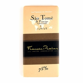 "Pralus French Chocolate - ""Sao Tome - Pure Origin"" Dark Chocolate, 75% Cocoa, 100g/3.5oz. (15 Pack)"