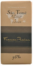 "Pralus French Chocolate - ""Sao Tome - Pure Origin"" Dark Chocolate, 75% Cocoa, 100g/3.5oz.(5 Pack)"