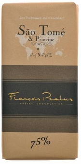 "Pralus French Chocolate - ""Sao Tome - Pure Origin"" Dark Chocolate, 75% Cocoa, 100g/3.5oz. (Single)"