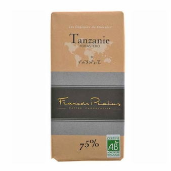 "Pralus French Chocolate - ""Tanzanie - Pure Origin"" Dark Chocolate, 75% Cocoa, 100g/3.5oz. (15 Pack)"