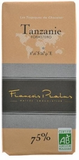 "Pralus French Chocolate - ""Tanzanie - Pure Origin"" Dark Chocolate, 75% Cocoa, 100g/3.5oz (Single)"