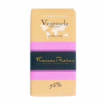 "Pralus French Chocolate - ""Venezuela - Pure Origin"" Dark Chocolate, 75% Cocoa, 100g/3.5oz. (15 Pack)"