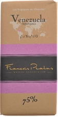 "Pralus French Chocolate - ""Venezuela - Pure Origin"" Dark Chocolate, 75% Cocoa, 100g/3.5oz. (5 Pack)"